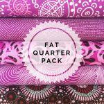Aboriginal Art Fabric 5 Fat Quarter Bundle - Light Purple Colourway by M & S Textiles Fat Quarter Packs - OzQuilts