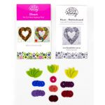 Wendy Williams Pre-Cut Wool Applique Pack - Heart Multi-coloured by Wendy Williams of Flying FIsh Kits Wendy Williams Wool Felt Precut Kits - OzQuilts