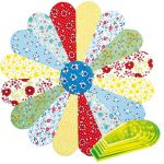 "Matilda's Own Miniature Curved Dresden Plate 4"" to 9"" Patchwork Template Set by Matilda's Own Quilt Blocks - OzQuilts"
