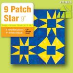 "Matilda's Own 9"" 9 Patch Star Patchwork Template Set by Matilda's Own Quilt Blocks - OzQuilts"