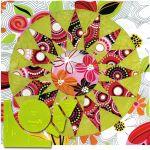 "Matilda's Own 15"" Sunburst Patchwork Template Set by Meredithe Clark Quilt Blocks - OzQuilts"