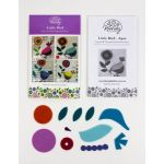 Wendy Williams Pre-Cut Wool Applique Pack - Little Bird Aqua by Wendy Williams of Flying FIsh Kits Wendy Williams Wool Felt Precut Kits - OzQuilts