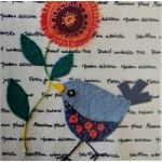 Wendy Williams Pre-Cut Wool Applique Pack - Little Bird Blue by Wendy Williams of Flying FIsh Kits Wendy Williams Wool Felt Precut Kits - OzQuilts