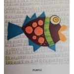Wendy Williams Pre-Cut Wool Applique Pack - Little Fish Purple by Wendy Williams of Flying FIsh Kits Wendy Williams Wool Felt Precut Kits - OzQuilts