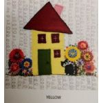 Wendy Williams Pre-Cut Wool Applique Pack - Little House Yellow by Wendy Williams of Flying FIsh Kits Wendy Williams Wool Felt Precut Kits - OzQuilts