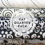 Aboriginal Art Fabric 5 Fat Quarter Bundle - Black & White Colourway by M & S Textiles Fat Quarter Packs - OzQuilts