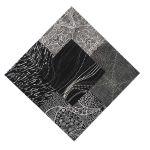 "Aboriginal Art Fabric 20 pieces 5"" Square Charm Pack - Black Colourway by M & S Textiles 5"" Squares - OzQuilts"