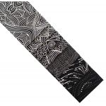 "Aboriginal Art Fabric 10 Pieces 2.5"" Strips Jelly Roll pack - Black Colourway by M & S Textiles Australian Aboriginal Art Fabrics - OzQuilts"