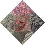 "Aboriginal Art Fabric 20 pieces 5"" Square Charm Pack - Black, White and Red Colourway by M & S Textiles 5"" Squares - OzQuilts"