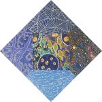 "Aboriginal Art Fabric 20 pieces 5"" Square Charm Pack - Blue Colourway by M & S Textiles 5"" Squares - OzQuilts"