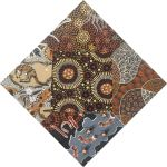 "Aboriginal Art Fabric 20 pieces 5"" Square Charm Pack - Brown & Gold Colourway by M & S Textiles 5"" Squares - OzQuilts"