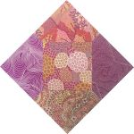 "Aboriginal Art Fabric 20 pieces 5"" Square Charm Pack - Purple Pink Colourway by M & S Textiles 5"" Squares - OzQuilts"