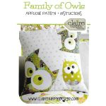 Family of Owls Cushion Pattern by Claire Turpin by Creative Abundance Cushions & Pillows - OzQuilts