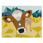 The Cow Abstractions Quilt Kit includes binding & pattern by Robert Kaufman Fabrics Kits - OzQuilts
