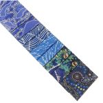 "Aboriginal Art Fabric 10 Pieces 2.5"" Strips Jelly Roll pack - Blue Colourway by M & S Textiles 2.5"" Strips - OzQuilts"