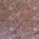 "Aboriginal Art Fabric 20 pieces 5"" Square Charm Pack - Purple Glow by M & S Textiles 5"" Squares - OzQuilts"