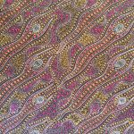 "Aboriginal Art Fabric 10 Pieces 2.5"" Strips Jelly Roll pack - Purple Glow by M & S Textiles 2.5"" Strips - OzQuilts"
