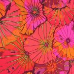 Lotus Leaf - Wine by The Kaffe Fassett Collective Lotus Leaf - OzQuilts