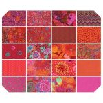 Kaffe Fassett Collective Classics - Lipstick - 20  Fat Quarters by Free Spirit Fabrics Coming Soon - OzQuilts