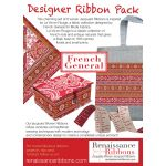 French General La Vie en Rouge Designer Ribbon Collection - 6 Yards by Renaissance Ribbons Bag Making Accessories - OzQuilts