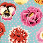 Big Blooms - Duck by The Kaffe Fassett Collective Big Blooms - OzQuilts