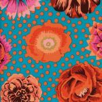 Big Blooms - Turquoise by The Kaffe Fassett Collective Big Blooms - OzQuilts