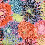 Japanese Chrysanthemum - Contrast by The Kaffe Fassett Collective Japanese Chrysanthemum - OzQuilts