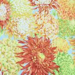 Japanese Chrysanthemum - Yellow by The Kaffe Fassett Collective Japanese Chrysanthemum - OzQuilts