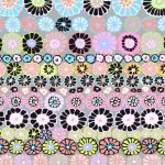Row Flowers - Contrast by The Kaffe Fassett Collective Row Flowers - OzQuilts