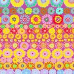 Row Flowers - Pink by The Kaffe Fassett Collective Row Flowers - OzQuilts
