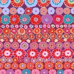 Row Flowers - Red by The Kaffe Fassett Collective Row Flowers - OzQuilts