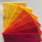 Pure Wool Felt Pack A - 8 Colours - 10cm x 15cm by Hollandfelt European Wool Felt  - OzQuilts