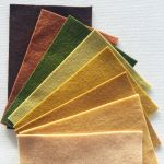 Pure Wool Felt Pack B- 8 Colours- 10cm x 15cm by Hollandfelt European Wool Felt  - OzQuilts