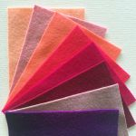 Pure Wool Felt Pack D- 8 Colours- 10cm x 15cm by Hollandfelt European Wool Felt  - OzQuilts