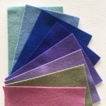Pure Wool Felt Pack H- 8 Colours- 10cm x 15cm ( by Hollandfelt European Wool Felt  - OzQuilts