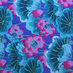 Lake Blossoms - Blue by The Kaffe Fassett Collective Lake Blossoms - OzQuilts