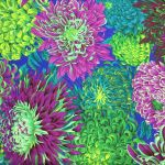 Japanese Chrysanthemum - Green by The Kaffe Fassett Collective Japanese Chrysanthemum - OzQuilts