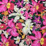 Orchids - Black by The Kaffe Fassett Collective Orchids - OzQuilts