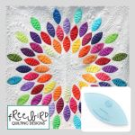 Seed Burst Quilt Pattern and Template Included by Freebird Quilting Designs by Free Bird Quilting Designs Applique - OzQuilts