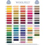 Pure Wool Felt Pack G- 8 Colours- 10cm x 15cm ( by Hollandfelt European Wool Felt  - OzQuilts