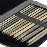 "Lykke Straight Knitting Needle Set 14"" Long in a Charcoal Folding Case by Lykke Knitting Needles - OzQuilts"