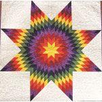 "Quiltsmart 38"" & 58"" Lone Star Diamond Fussy Cut Acrylic Template by Quiltsmart Quiltsmart Kits - OzQuilts"
