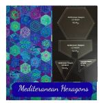 Mediterranean Hexagons Quilt Template Set  -from Kaffe Fassett's Quilts in Morocco by OzQuilts Custom Quilt Template Sets - OzQuilts
