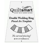 Quiltsmart Double Wedding Ring Acrylic Template for Pieced Arcs by Quiltsmart Quiltsmart Kits - OzQuilts