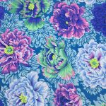 Brocade Peony - Aqua by The Kaffe Fassett Collective Brocade Peony - OzQuilts