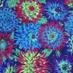 Cactus Dahlia - Blue by The Kaffe Fassett Collective Cactus Dahlia - OzQuilts