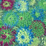 Cactus Dahlia - Green by The Kaffe Fassett Collective Cactus Dahlia - OzQuilts