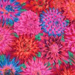 Cactus Dahlia - Red by The Kaffe Fassett Collective Cactus Dahlia - OzQuilts