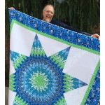 """Quiltsmart 58"""" Lone Star Pattern & Printed Fusible Interfacing Quilt Kit by Quiltsmart Quiltsmart Kits - OzQuilts"""