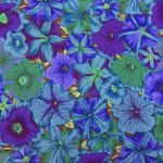 Petunias - Blue by The Kaffe Fassett Collective Petunias - OzQuilts